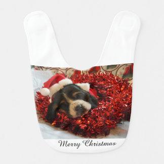 Babador Filhote de cachorro de Basset Hound do Feliz Natal