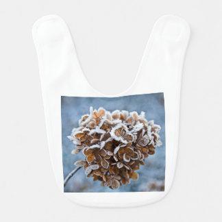 Babador Flor com cristais de gelo