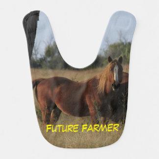 BABADOR futuro do bebê do cavalo do fazendeiro
