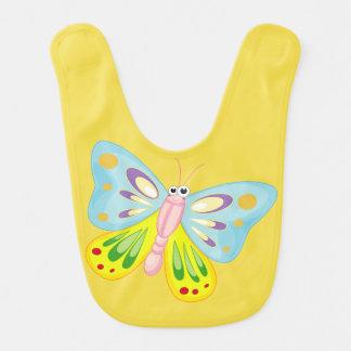 Babador Infantil amor colorido bonito da borboleta
