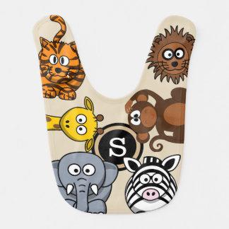 Babador Infantil Animais do jardim zoológico do divertimento