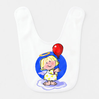 Babador Infantil Anjo bonito e balão vermelho