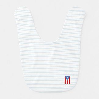 Babador Infantil Azul: Bandeira de Puerto Rico