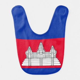 Babador Infantil Bandeira de Cambodia