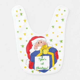 Babador Infantil Bebê do Natal grande/Papai Noel