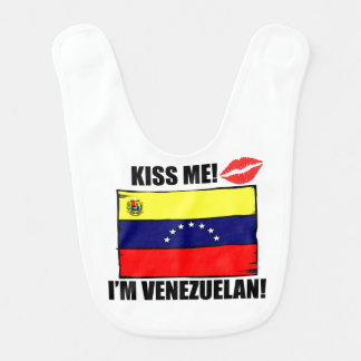 Babador Infantil Beije-me que eu sou venezuelano