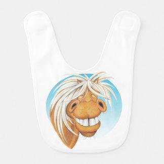 Babador Infantil Bib. do companheiro do cavalo de Equi-toons