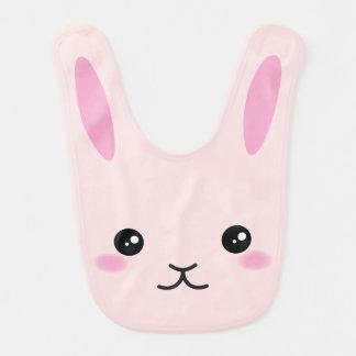 Babador Infantil Bonito, kawaii, design cor-de-rosa do coelho