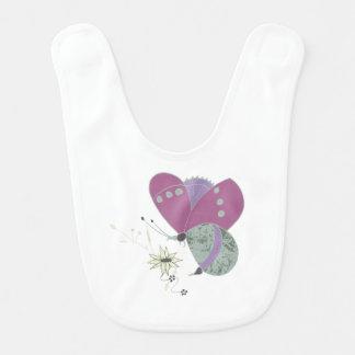 Babador Infantil borboleta