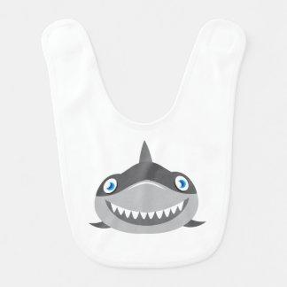 Babador Infantil cara feliz bonito do tubarão