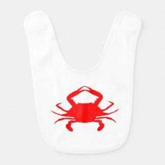 Babador Infantil Caranguejo vermelho
