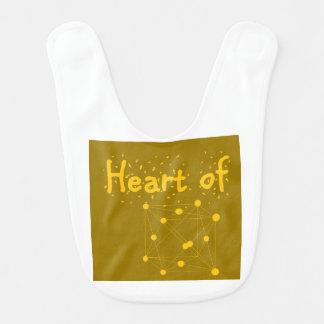 Babador Infantil coração presente do equipamento do bebê do ouro do