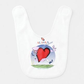 Babador Infantil coração principal de Alaska, fernandes tony