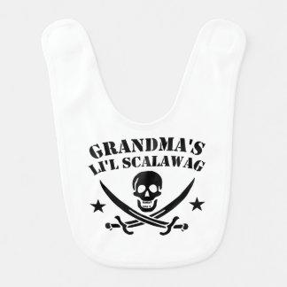 Babador Infantil Crânio do pirata do Scalawag do Li'l da avó