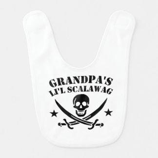 Babador Infantil Crânio do pirata do Scalawag do Li'l do vovô