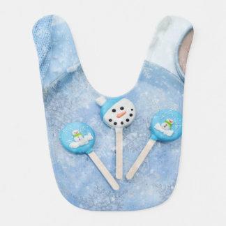 Babador Infantil Deleites e presentes do tempo de inverno