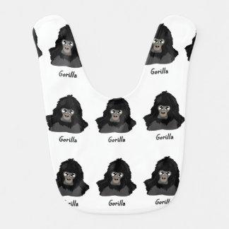 Babador Infantil Design do gorila