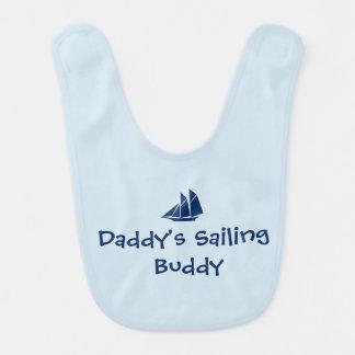 """Babador Infantil Do """"babador do bebê do amigo da navigação pai"""""""