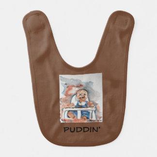 "Babador Infantil do ""babador do bebê Puddin'"""