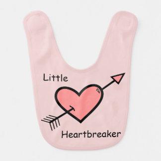 Babador Infantil Doodle do coração da seta - Heartbreaker pequeno