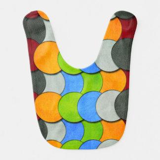 Babador Infantil Empilhado Círculo-Textured por Shirley Taylor