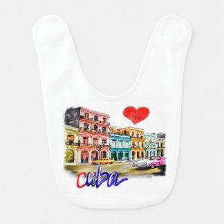 Babador Infantil Eu amo Cuba
