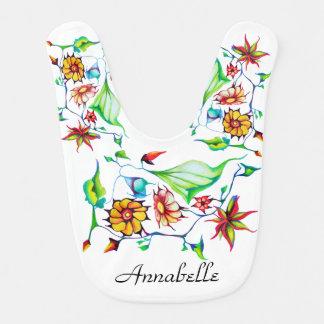 Babador Infantil Floral exótico Enchanting lunático chique elegante