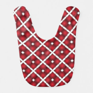 Babador Infantil Globos vermelhos, teste padrão retro dos Rhombuses