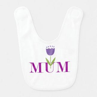 Babador Infantil Mãe floral