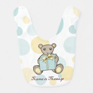 Babador Infantil Menino bonito do urso de ursinho ou Pastel