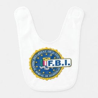 Babador Infantil Modelo do selo do FBI