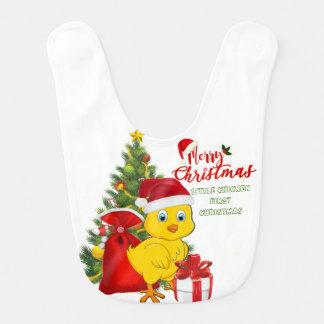Babador Infantil Natal pequeno da galinha do bebê