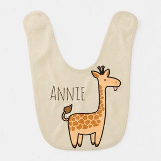 Babador Infantil Nome engraçado do girafa & do bebê