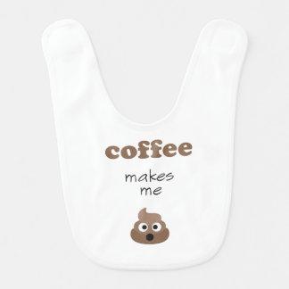 Babador Infantil O café engraçado faz-me a frase do emoji do