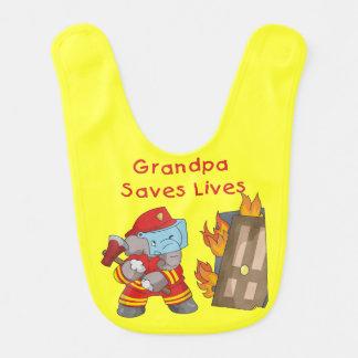Babador Infantil O vovô do sapador-bombeiro do elefante salvar o