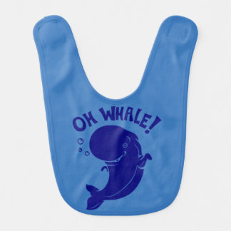 Babador Infantil Oh baleia