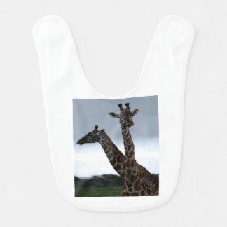 Babador Infantil Os gêmeos África do girafa personalizam destinos