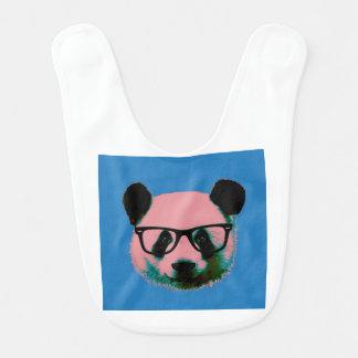 Babador Infantil Panda com vidros no azul