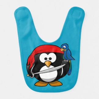 Babador Infantil Papagaio do pinguim do pirata