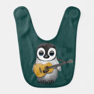 Babador Infantil Pinguim musical do bebê que joga a cerceta da