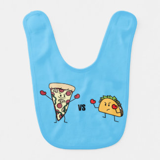 Babador Infantil Pizza de Pepperoni CONTRA o Taco: Mexicano contra