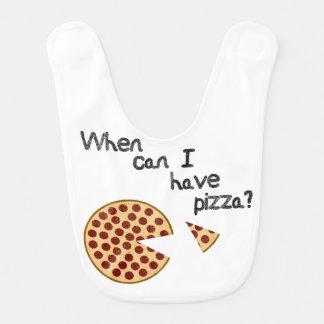 Babador Infantil Quando posso eu ter a pizza?
