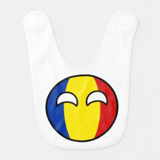 Babador Infantil Romania Geeky de tensão engraçado Countryball