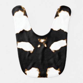 Babador Infantil Teste de Rorschach de um cartão da mancha da tinta
