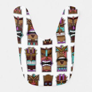 Babador Infantil Teste padrão de máscara de Tiki