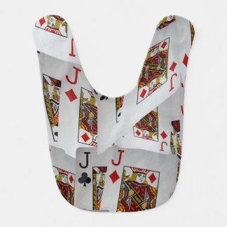 Babador Infantil Teste padrão mergulhado cartões do póquer dos