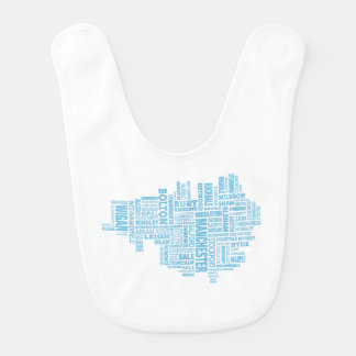 Babador Infantil Tipo azul mapa de maior Manchester