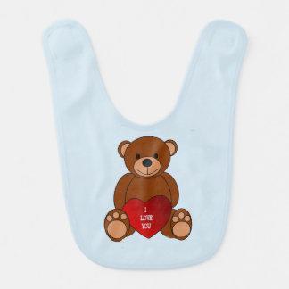 Babador Infantil Urso de ursinho    com coração