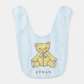 Babador Infantil Urso do menino azul personalizado