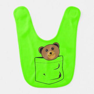 Babador Infantil Urso no bolso